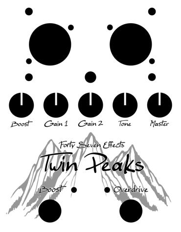 [Effet] Twin Peaks - Booster/Overdrive à lampes BT TwinPeaksLo
